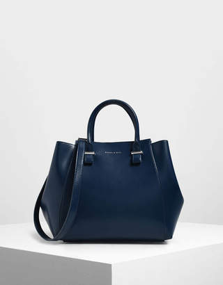 Charles & Keith Double Handle Structured Tote