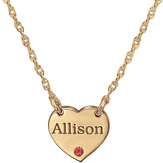 FINE JEWELRY Personalized Birthstone Heart Name Pendant Necklace