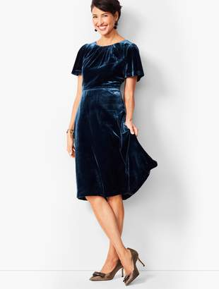 Talbots Velvet Fit & Flare Dress
