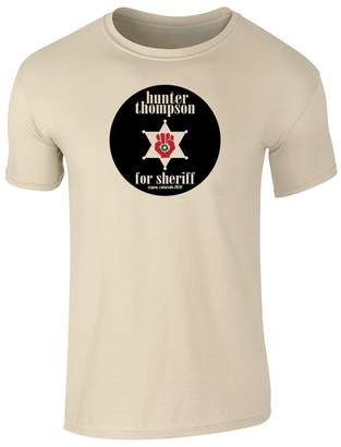 Hunter PCG Pop Threads S. Thompson For Sheriff 2XL Short Sleeve T-Shirt