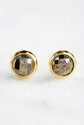 Gorjana Power Pyrite Gold Stud Earrings