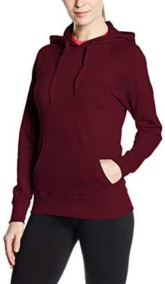 Fruit of the Loom Women's Pull-over Lightweight Hooded Sweat, (Manufacturer Size:)