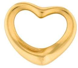 Tiffany & Co. 18K Open Heart Charm Pendant