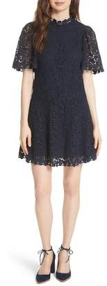 Rebecca Taylor Floral Lace Butterfly Sleeve Dress