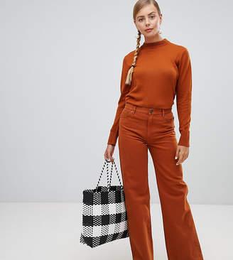 Monki wide leg jeans in rust