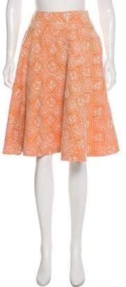 Robert Rodriguez Embroidered A-Line Skirt