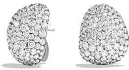 David Yurman Pave Earrings With Diamonds In 18K White Gold
