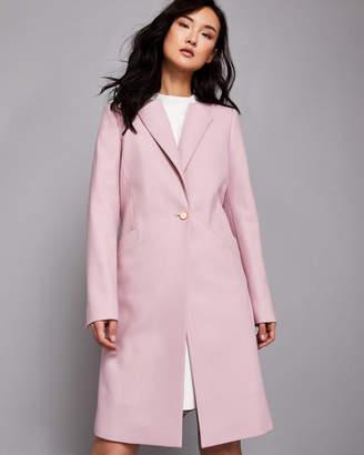 Ted Baker EMIILIO Collarless wool coat