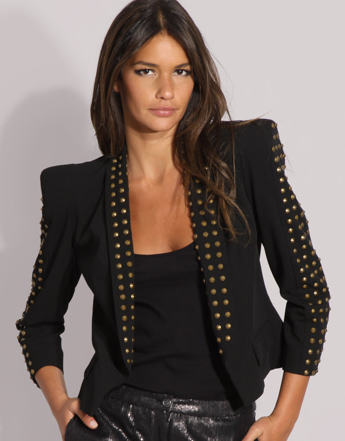Asos Studded Power Shoulder Jacket