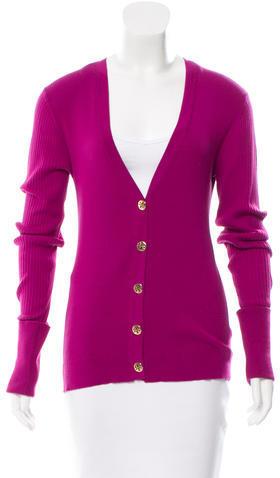 Tory BurchTory Burch V-Neck Ribbed Sweater