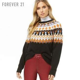Forever 21 (フォーエバー 21) - Forever 21 フェアアイルブラッシュドセーター