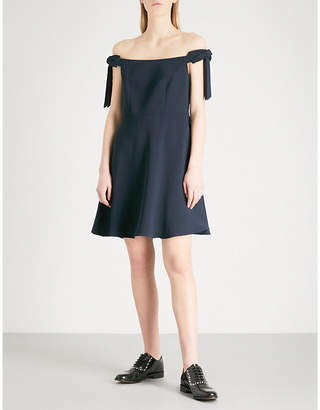 Claudie Pierlot Rio off-the-shoulder crepe mini dress