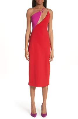 Cushnie et Ochs Poppy Demi Twisted Neckline Dress