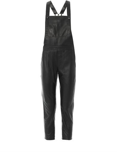 EACH X OTHER Leather dungarees