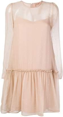 No.21 star-embellished dress