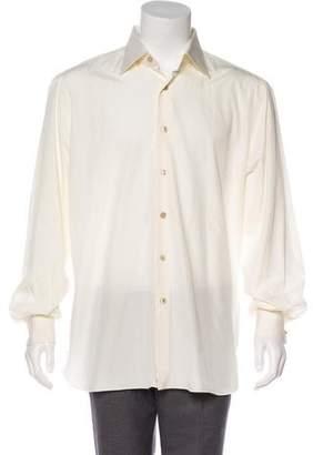 Isaia Point Collar Button-Up Shirt