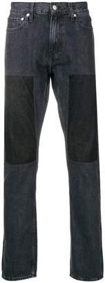 Calvin Klein Jeans straight-leg panelled jeans