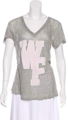 Wildfox Couture Graphic V-Neck T-Shirt
