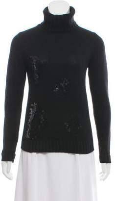 Joseph Sequined Turtleneck Sweater
