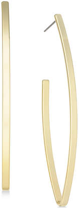 INC International Concepts I.n.c. Open V-Shaped Gold-tone Plated Hoop Earrings, Created for Macy's