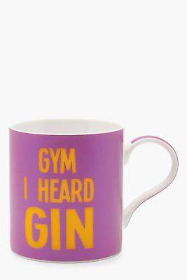 boohoo Womens Gym And Gin Mug in Pink size One Size