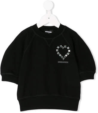 DSQUARED2 studded heart sweatshirt