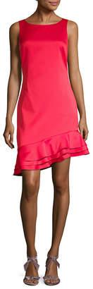 Badgley Mischka Asymmetric Ruffle Dress