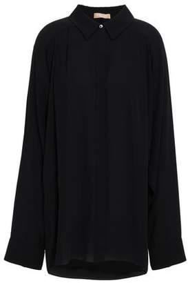 Michael Kors Oversized Pleated Crepe Shirt