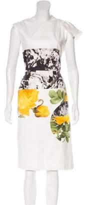 Dries Van Noten Floral Print Midi Dress
