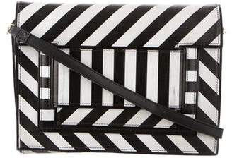 Pierre Hardy Stripe Leather Shoulder Bag