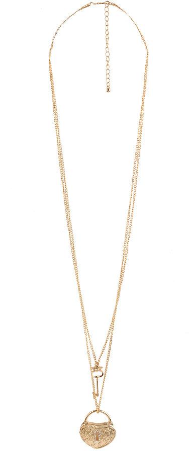 Locket Key Pendant Necklace