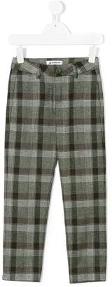 Dondup Kids plaid tailored trousers