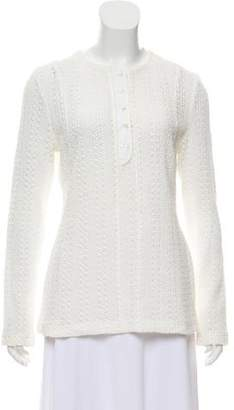 Thakoon Long Sleeve Knit Top