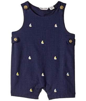 Janie and Jack Sailboat Embroidered One-Piece (Infant)