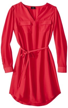 Mossimo Womens Long Sleeve Tie Waist Dress - Assorted Colors