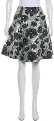 Brock Collection Metallic A-Line Skirt