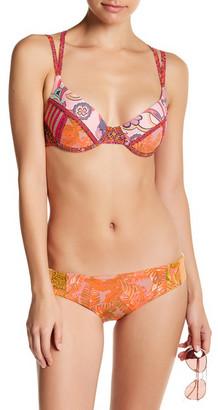 Maaji Oil Paint Palette Reversible Cheeky Bikini Bottom $65 thestylecure.com