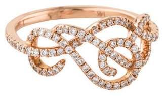 Ring 14K Diamond Intertwined