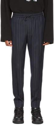 Juun.J Navy Pinstripe Drawstring Trousers