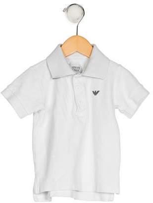 Armani Junior Boys' Embroidered Collared Shirt