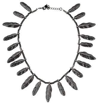 House of Harlow 1960 Pavé Feather Necklace metallic House of Harlow 1960 Pavé Feather Necklace