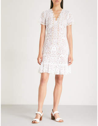MICHAEL Michael Kors Chain-trim cotton lace mini dress