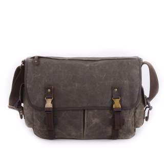 EAZO - Waxed Canvas Water Repellent Shoulder Bag in Green