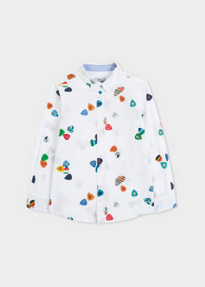 Paul Smith Boys' 8+ Years White 'Plectrum' Print Shirt