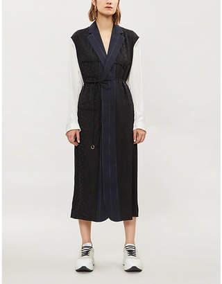 Stella McCartney Alina patchwork wool midi dress
