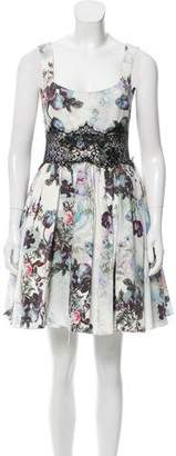Marchesa Sleeveless Floral Dress