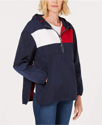 Tommy Hilfiger Colorblock Pullover Raincoat