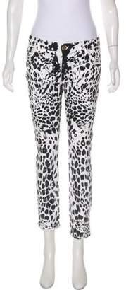 Pierre Balmain Low-Rise Printed Jeans White Low-Rise Printed Jeans