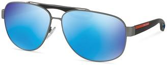 Prada PS 58QS Pilot Sunglasses, 63mm $290 thestylecure.com