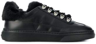 Hogan faux fur trim sneakers